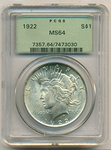 (1922 Peace Silver Dollar MS64 PCGS OGH)