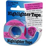 Lee Products Highlighter Tape 1/2-Inch by 393-Inch-Pink