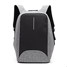 Wowelife Anti Theft Travel Backpack Laptop Book School Bag with USB Charging Port Fits Under 15.6-Inch Business Notebook Suited for College Student, Men and Women,Grey