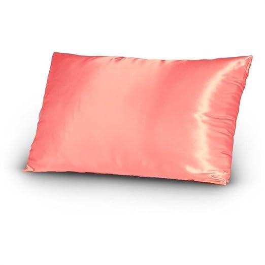 Funda de almohada de satén para el cuidado del rostro y el cabello, Color30, 20 X 30 inches