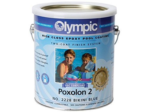 Olympic Optilon Rubber Base Coating Bikini Blue - 1 Gallon Rubber Base Swimming Pool