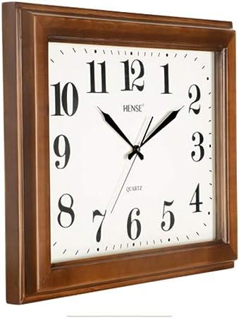 SGLI Reloj De Pared Cuadrado Más Reloj De Pared De Madera Maciza Grande Reloj De Cuarzo Mudo Reloj Digital De 30 Pulgadas Reloj de Pared: Amazon.es: Hogar