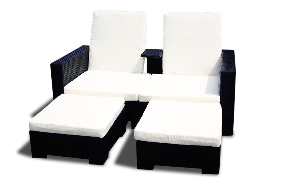 gartenm bel polyrattan lounge rattan sofa parma hotel 2 qualit t schwarz g nstig online kaufen. Black Bedroom Furniture Sets. Home Design Ideas