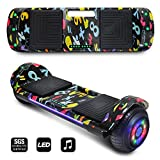 CHO POWER SPORTS 2019 Electric Hoverboard UL Certified Hover Board Electric Scooter with Built in Speaker Smart Self Balancing Wheels (Black)