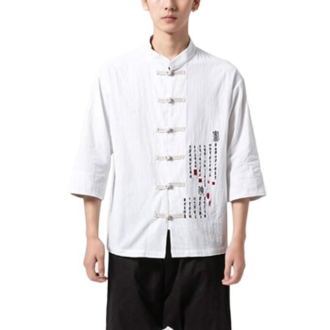GladiolusA Hombre Chaqueta Traje Tang Chino Camisa De Kung ...