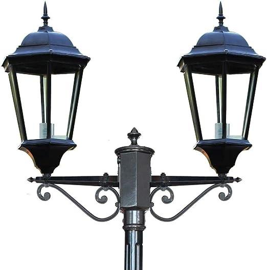 Luces de Poste de jardín Vía Farola Exterior Pilar de Aluminio ...