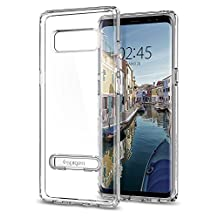Galaxy Note 8 Case, Spigen Ultra Hybrid S - Air Cushion Technology and Magnetic Metal Kickstand for Samsung Galaxy Note 8 (2017) - Crystal Clear