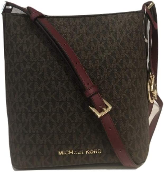Michael Kors Kimberly Signature PVC Small Bucket Crossbody
