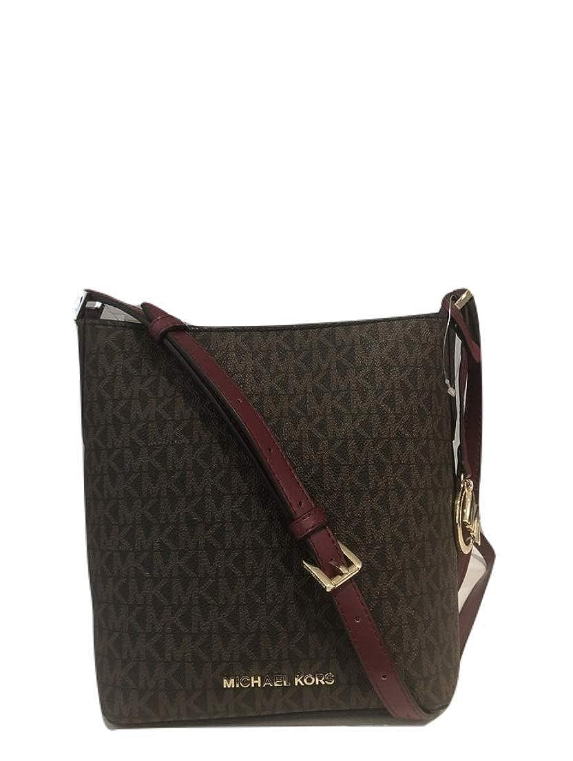 Amazon.com  Michael Kors Kimberly Bucket Crossbody Bag Messenger Brown MK  Mulberry  Clothing 83cce814aeeaa