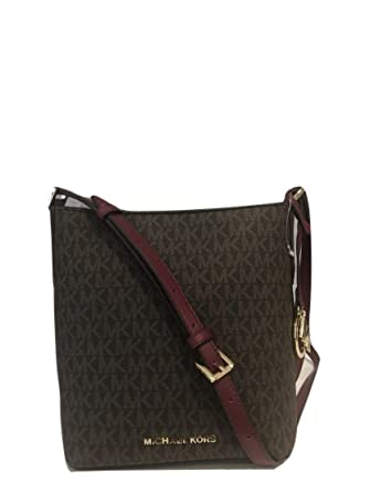 Amazon.com  Michael Kors Kimberly Bucket Crossbody Bag Messenger Brown MK  Mulberry  Clothing 2d3f7592f59cd