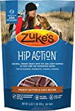 Zuke's Hip Action Dog Treats, Peanut Butter & Oats, 16 Ounce, 12 Pack