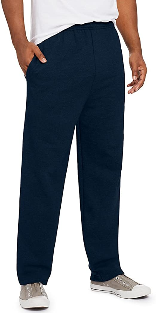 Hanes ComfortSoft EcoSmart Men/'s Fleece Sweatpants with Pockets Navy