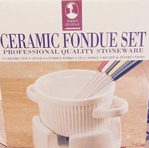Roshco Ceramic Stoneware White Fondue ()