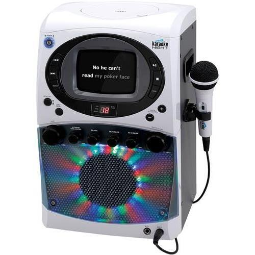 Monitor Karaoke System (Karaoke Night KN355 CD+G Karaoke System with LED Light Show & 5.5