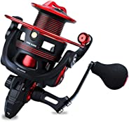 One Bass Fishing reels Light Weight Saltwater Spinning Reel - 39.5 LB Carbon Fiber Drag,12+1 BB Ultra Smooth A