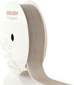 5 Yards HBC 1 Velvet Ribbon 009 Silver