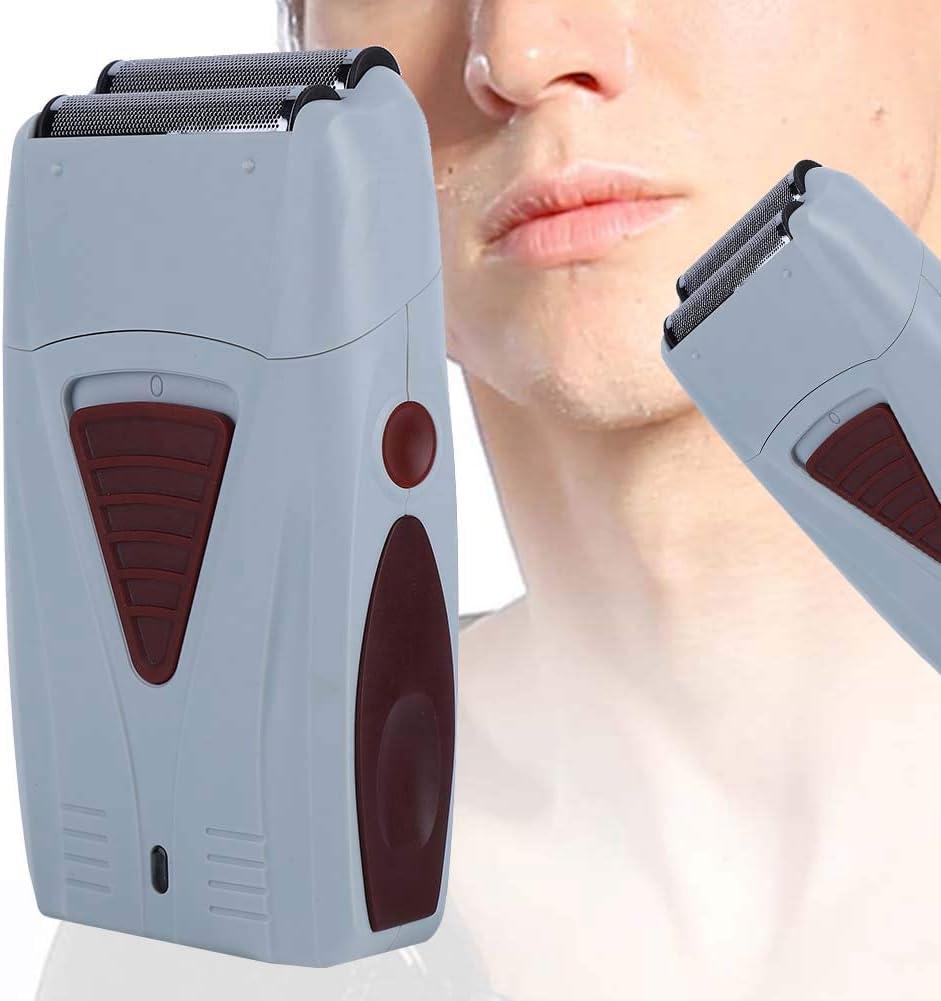 Recortador de pelo eléctrico, máquina de afeitar de doble cabeza recargable para hombres, afeitadora alternativa, kit de aseo para hombres con recortador para barba, cabeza, cuerpo y cara
