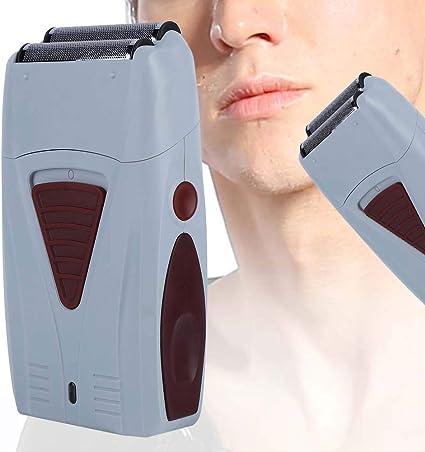 Recortador de pelo eléctrico, máquina de afeitar de doble cabeza ...