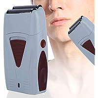 Recortador de pelo eléctrico, máquina de afeitar de doble cabeza recargable para…