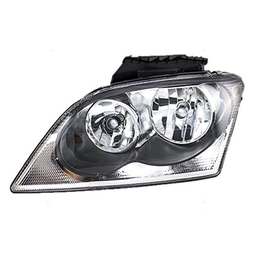 Drivers Halogen Combination Headlight Headlamp Replacement fits 04-06 Chrysler Pacifica 4857851AE AutoAndArt
