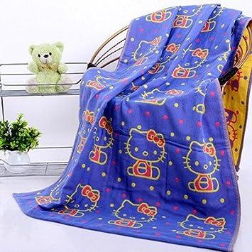 70 * 140 cm 100 % algodón toallas de baño suave Hello Kitty Baño Toallas Nuevo 2015 Marca suave Hello Kitty toalla de baño: Amazon.es: Hogar