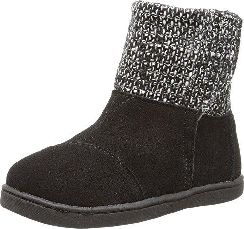 TOMS Kids Unisex Nepal Boot (Infant/Toddler/Little Kid) Black Suede/Metallic Wool 3 M US Infant