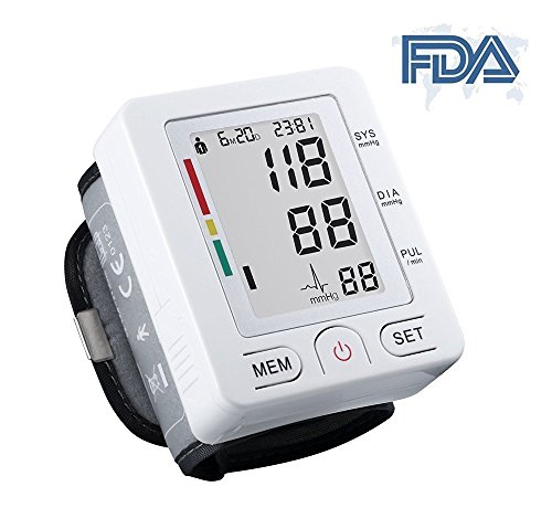 Automatic Digital Wrist Blood Pressure Heart Rate Monitor with LCD Screen (BLACK) - 7