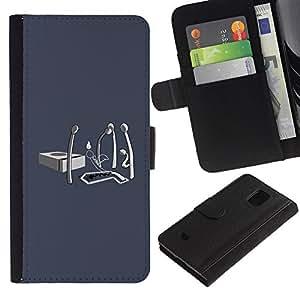 KLONGSHOP / Tirón de la caja Cartera de cuero con ranuras para tarjetas - Matches Life Fire Ending - Samsung Galaxy S5 Mini, SM-G800, NOT S5 REGULAR!