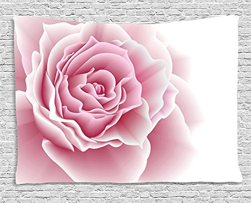(asddcdfdd Light Pink Tapestry, Romantic Rose Petals Beauty Bouquet Celebration Bridal Romance Wedding, Wall Hanging for Bedroom Living Room Dorm, 80 W X 60 L Inches, Light Pink White)