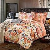 YiXinZhaiPei Floral Poly/Cotton 4 Piece Duvet Cover Sets , queen