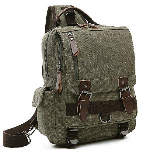 Collsants Canvas Sling Backpack Crossbody Messenger Bag Travel Shoulder Daypack