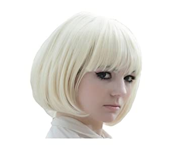 Ao No Exorcist Shiemi Moriyama Cosplay Bob short blonde Wig jf010308