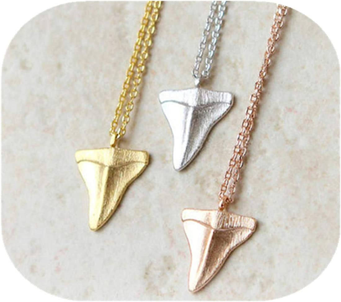 Chains Shark teeth pendants necklaces for woman man simple choker necklace Beach Jewelry Valentine's Day Gift