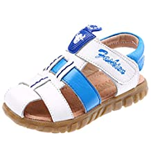 DADAWEN Baby's Boy's Girl's Athletic Summer Leather Closed-Toe Strap Sandal