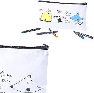 Lote 18 Estuches para Colorear Dibujos Infantiles con 5 Ceras de ...