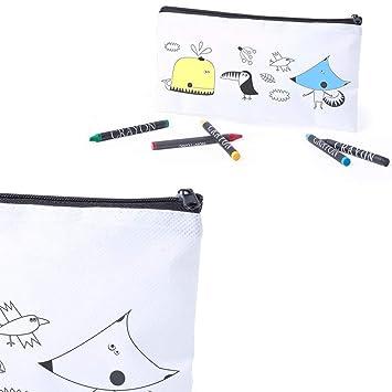 Lote 24 Estuches para Colorear Dibujos Infantiles con 5 Ceras de Colores. Regalos Infantiles para cumpleaños. Detalles Infantiles para Eventos.