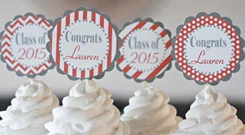 12 - Graduation Grad Class of 2017 or  Crimson Maroon Burgun