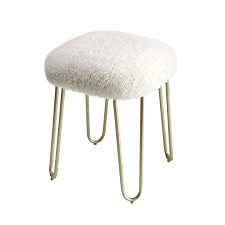 Outstanding Calyvina Bedroom Long Fluff Vanity Stool Beauty Stool Makeup Beatyapartments Chair Design Images Beatyapartmentscom