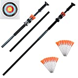Cheap SinoArt 4 Foot Blowguns Two Piece .625 Caliber Big Bore Blow gun Hunting Weapon with 20 Target Darts (4′ Blowgun)