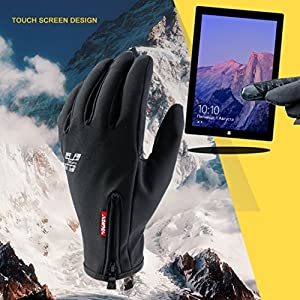 Cycling Gloves Full Finger Touchscreen Gloves Warm Gloves Driving Gloves Black for Men and Women, Suitable for Spring Autumn and Winter