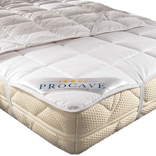 PROCAVE Protector de colchón transpirable, Cubrecolchón suave 100% algodón, Funda para colchones con 4 gomas angulares 140x200 cm: Amazon.es: Hogar