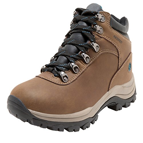 Northside Women's Apex Lite Waterproof Hiking Boot, Medium Brown/Teal, 9 M US by Northside