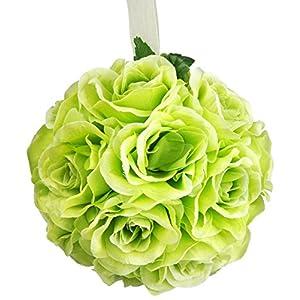 Galt International Decorative Green Rose Pomander Flower Kissing Ball, 6-Inch 8