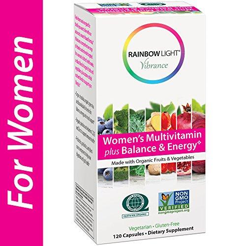 Rainbow Light Vibrance Women's Multivitamin Plus Balance & Energy, 120 Count