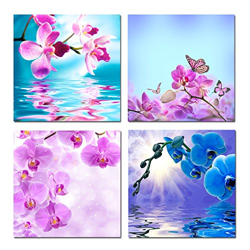 Hello Artwork - Beautiful Butterfly Orchid Flowers Canvas Print