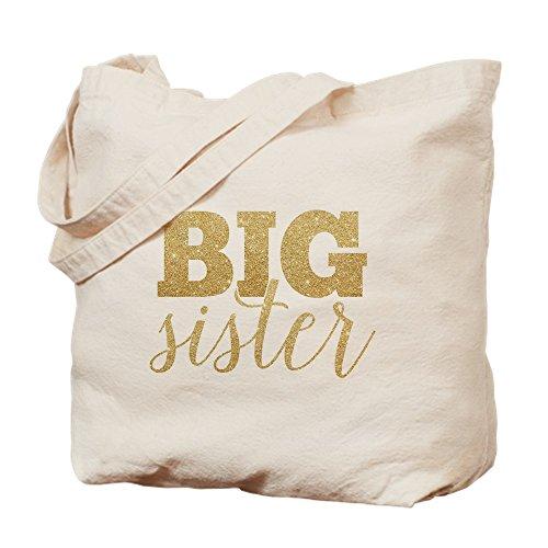 Big Sister Natural - CafePress - Glitter Big Sister - Natural Canvas Tote Bag, Cloth Shopping Bag