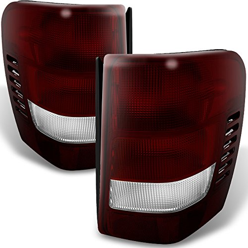 Jeep Grand Cherokee Lamp - For Jeep Grand Cherokee Dark Red Tail Lights Brake Lamps Driver Left + Passenger Right Replacement Pair
