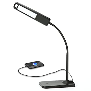 Desktop Lamp, HQOON Office Desk Lamp With USB Charging Ports, Eye Care LED  Reading