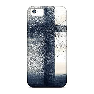 Excellent Design A Cross Being Blow Away Phone Case For Iphone 5c Premium Tpu Case