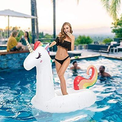 Nonrahy Unicornio Colchoneta Hinchable Flotador Gigante Piscina ...